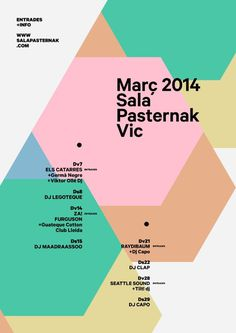 Monthly poster Pasternak on Behance #poster #print #geometric