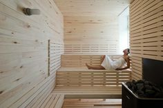 Fogo Island Inn #sauna #interiors #bathroom