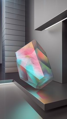 Crystal Series #titanium #3D #iridiscent #animation #architecture #colour #minimal #crystal