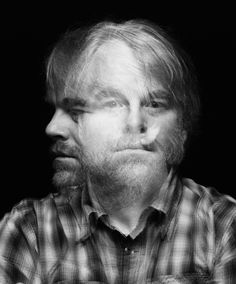 Philip Seymour Hoffman #philip seymour hoffman #black and white #two face #double exposure