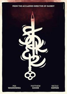 Stoker alternative poster by hugraphic #key #poster #film #stoker #alternative #typography
