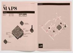 Creative Review - Tent type #print #design #map #type #magazine