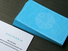 Culinaria Food and Wine Letterpress Cards « Beast Pieces #card #business