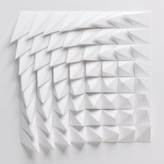The Extraction Series by Matthew Shlian: Rotated: White | Art | The Ghostly Store #art #geometric