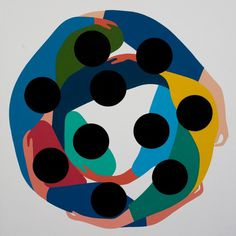 geoff-mcfetridge-paintings-6 #illustration #top #down