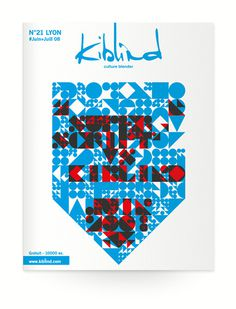 Kiblind #cover #print #vector #typography