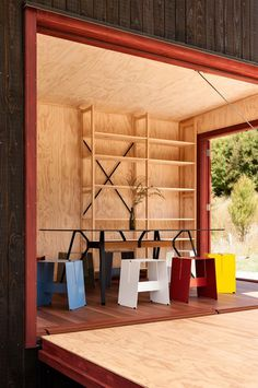 Ecosanctuary Welcome Shelter: Floating Roof Over the Wooden Boxes 6