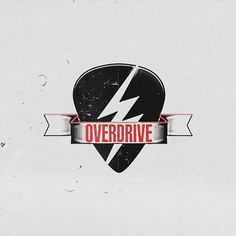 OVERDRIVE Rock Store on the Behance Network #eight #identity #seven #logo #v7p8