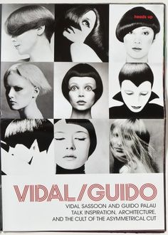 V MAGAZINE / REMEMBERING VIDAL SASSOON #poster #layout #vidal sassoon