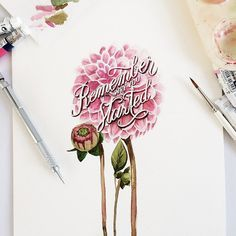 Creative Watercolor Lettering Quotes by June Digan #Lettering #quotes