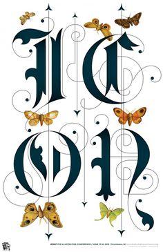 ICON Poster | Jessica Hische #type