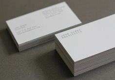 STUDIO BRAVE #demos #business #architects #print #john #studio #brave #cards #typography