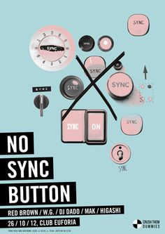 Poster #sync #button #design #poster