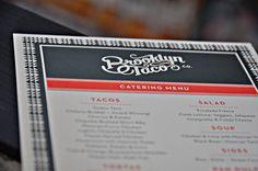 Brooklyn Taco #menu #script #typography
