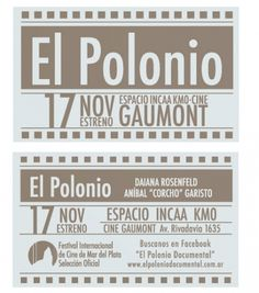 El polonio, Cocumental by Diego Pinzon at Coroflot #diego #pinzon #flyer #printing #francisco #baudizzone #editorial