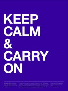 Keep Calm & Carry On Poster (Violet)