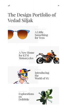 Vedad Siljak portfolio design graphic ktm new modern simple beautiful beauty design inspiration designblog site of the day www.mindsparklem