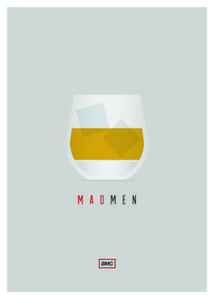 Mad Men Art Print #poster #minimalism #mad men #scotch