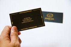 Personal Business Card 2013 #logo #identity #business card #vector #singapore #gold #lion #visual identity #2013 #namecard #hotstamp #name c