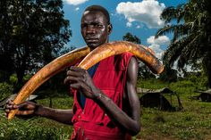 NZARA, SOUTH SUDAN; poaching of ivory in Garamba, National Park in the Democratic Republic of the Congo