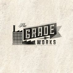 The Grade Works Identity #banner #branding #design #graphic #building #identity #factory #typography