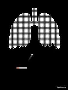 Publicidad sobre el cigarrillo #cigarette #arkanoid #cancer