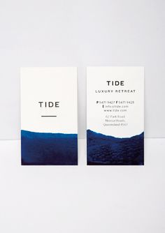 Bland Designs - Tide Retreat #cards #business #stationery