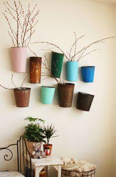 vintage planters #interior #wall #pot #plant