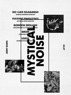 Mystical Noise #print #layout #blackwhite
