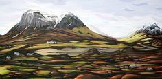 glencoe.jpg 1019×500 pixels #acrylic #glencoe #rural #painting #scotland #canvas #mountains
