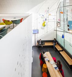 Quirky Clinic #interior #calder #design #colorful #mobile #workspace #hanging