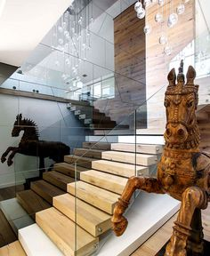 Luxury Residence with Glamorous Elements and Use of Natural Materials - #stairs, #staircase, #stairway, architecture, stairs