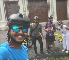 Our Mysore Captain Rohit is having a nice day at work. https://bit.ly/341dJMg . . . B:live, India's first e-bike tour, now riding in Mysore. Call or WhatsApp at 📞+91 86696 00373 or visit us at blive.co.in to book a tour with us. #letsblive #eco #tours #ebikes #discovery #travel #instatravel #wanderlust #swadesdarshan #funoverfuel #goO2noCO2 #moresmileslesssweat #fun #ev #sustainabletourism #ecotourism #mysore #mysorediaries #mysorestyle #mysoretourism #karnataka #MondayMotivation #MysoreMotivation