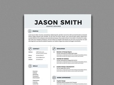 Free Simple Resume Template In Illustrator Format