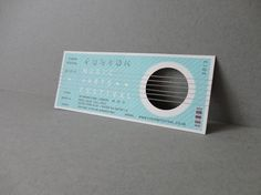 NICHOLAS HANDLEY DESIGN. #music #design #ticket #typography