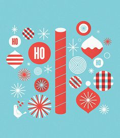 holiday pattern and icons #christmas #holiday #icons #pattern