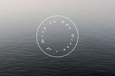 A Drop In The Ocean #ocean #stamp #branding #logo #simple #identity #type