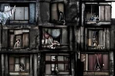 In a Window of Prestes Maia 911 Building by Julio Bittencourt » Creative Photography Blog #photography