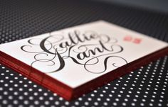 Edge Painted Letterpress Business Cards | Oh So Beautiful Paper #cards #business #typography