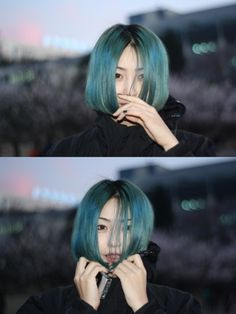 blue #hair #turquoise #asian