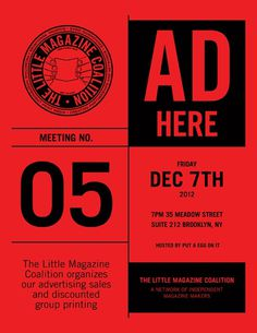 thisisgatz:The Little Magazine Coalition #poster