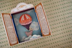 Magic Suitcase - Flying Balloon and Secrets of Clouds #flyingballoon #clouds #closet #flight #dreamland #papercraft #paperart #illustration