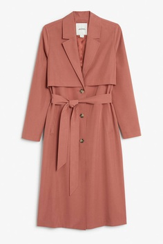 Soft trench coat - Peach jam - Coats & Jackets - Monki DE