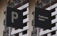 Platinum Salon – Identity Signage #canada #branding #icon #letter #identity #signage #logo #monochromatic #typography