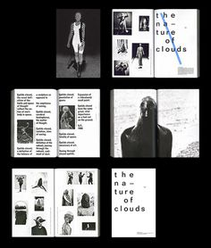 thisiscatalogue:Amazing looking new book The Nature of Clouds by Minneapolis based publisher MK Editions, each book comes with a set of th #print #layout