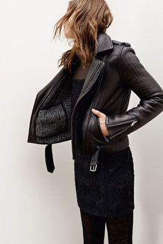 Likes | Tumblr #leather jacket #fashion