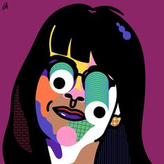 Broad City Abbi by @mkrnld #broadcity #illustration #portrait #pattern #mkrnld