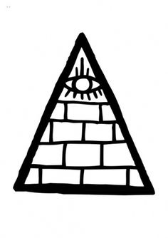 RAWZ #white #illuminati #black #tfc #eye #illustration #triangle #freedom #club