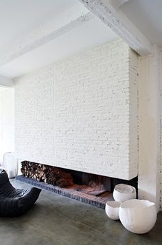 The Design Chaser: Interior Brick | Raw #interior design #decoration #decor #deco #brick wall
