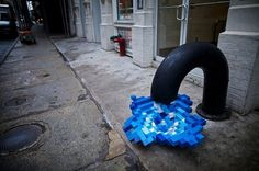 Pixel Pour 2.0, NYC #inspiration #abstract #creative #design #unique #sculptures #cool
